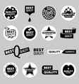 collection of icons of quality assurance vector image vector image