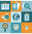 identification concepts in flat style vector image vector image