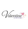 valentine happy vector image vector image