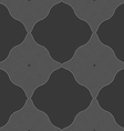 Monochrome pattern with black wavy guilloche vector image