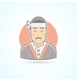 Japanese and asian cook sushi master icon vector image