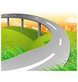 Country Highway vector image