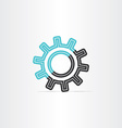 gear icon logotype symbol design vector image