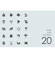Set of Rosh Hashanah icons vector image