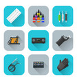tattoo equipment icons set vector image