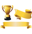 trophies gold vector image