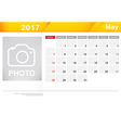 Year 2017 May month simple and clear design vector image