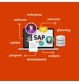 SAP system software enterprise resource planning vector image