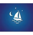 yacht night sea vector image vector image