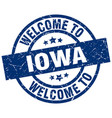 welcome to iowa blue stamp vector image