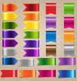 web satin ribbon set vector image vector image