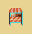 popcorn shop in sticker style vector image vector image