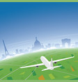 paris skyline flight destination vector image