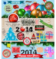2014 Christmas Vintage typograph design elements vector image