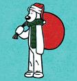 Christmas Bear vector image vector image