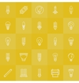 Light bulbs icons set vector image