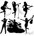 Band Gigging Background with Instruments vector image