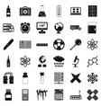 chemical equipment icons set simple style vector image