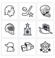 Russian hockey icon vector image
