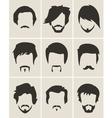 Set of hairmustachebeard silhouettes vector image