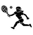 tennis championship woman icon vect vector image