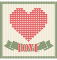 Vintage Valentines Day greeting card vector image