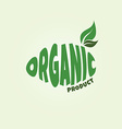 eco friendly natural label organic product sticker vector image