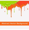 Paint colorful dripping background in three color vector image