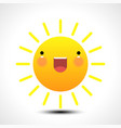 happy smiling summer sun icon vector image