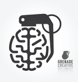 brain distortion from grenade concept engine vector image vector image