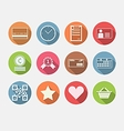 Flat icons for internet commerce vector image
