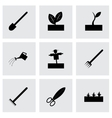 black farming icon set vector image