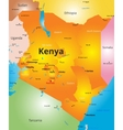 color map of Kenya country vector image vector image