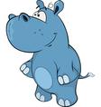 A little hippo Cartoon vector image