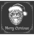 Christmas Card with Santa Claus Face vector image