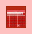Design schedule monthly november 2014 calendar vector image
