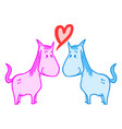 love horses vector image