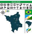 map of roraima brazil vector image
