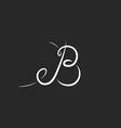 Mockup logo B letter monogram calligraphic design vector image