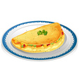 Omelet vector image