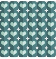 seamless love heart pattern vector image