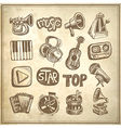 sketch music icon element vector image
