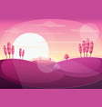 sunset landscape vector image