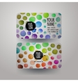 watercolor colorfull dots paint card design vector image