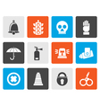 Flat Surveillance and Security Icons vector image vector image