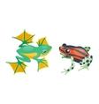 Frog cartoon tropical animal vector image