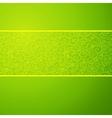 Green wave horizontal ornamental background vector image