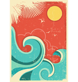 Vintage tropical background vector image