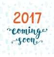 2017 year coming soon vector image