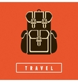 backpack icon in flat style vector image vector image
